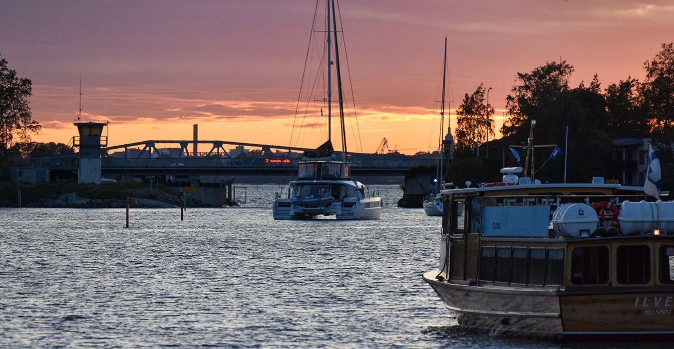 Lagoon Charter purjehduskohteena Villinki ilta